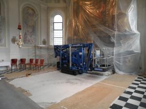 Renovierung Gemälde und Wände Pfarrkirche Oberleutasch 2012