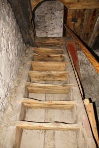 Treppe Glockenstuhl_(C) Iris Krug